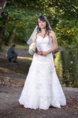 Svadobné šaty korzetové, 36