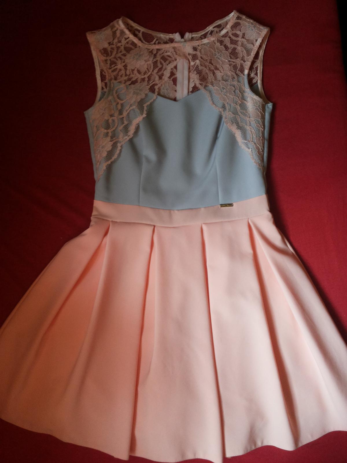 Ružovo- sivé šaty - Obrázok č. 2
