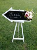 Svatební cedule - ukazatel,