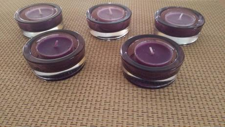 Svietnik so sviečkou 5ks - cena už s poštou - Obrázok č. 1