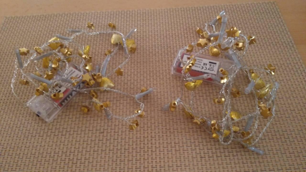 Zlaté svietiace retiazky 2ks - cena už s poštou - Obrázok č. 3