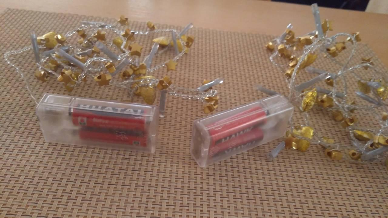 Zlaté svietiace retiazky 2ks - cena už s poštou - Obrázok č. 4