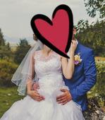 Svadobné šaty-vhodné aj pre tehotnú nevestu, 38