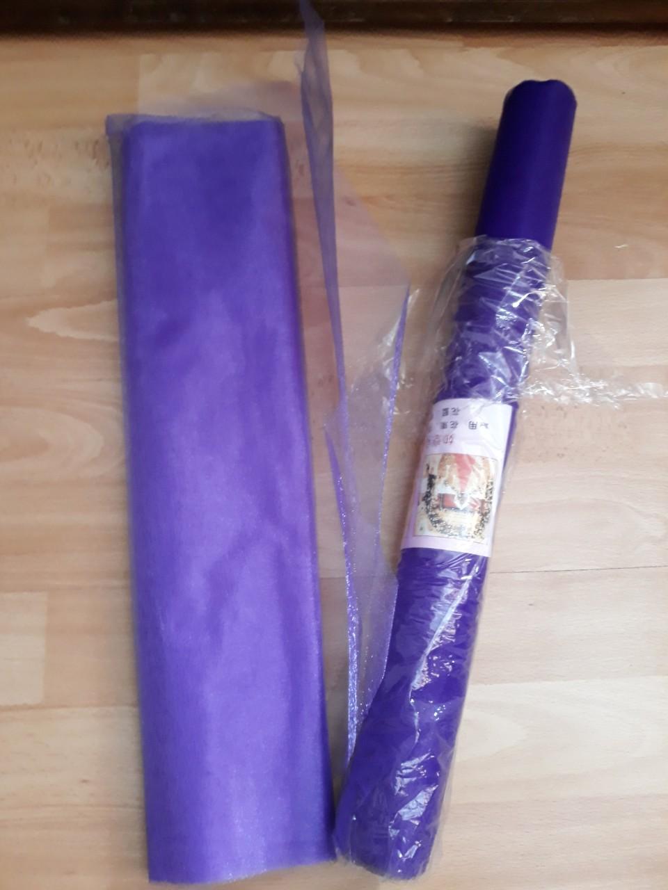 Rôzne fialové organzy a tyly 11ks -cena už s poštu - Obrázok č. 3