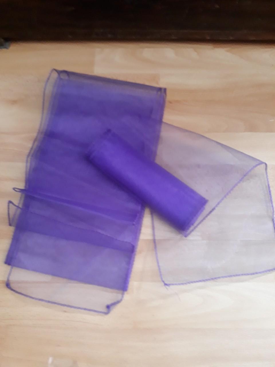 Rôzne fialové organzy a tyly 11ks -cena už s poštu - Obrázok č. 4