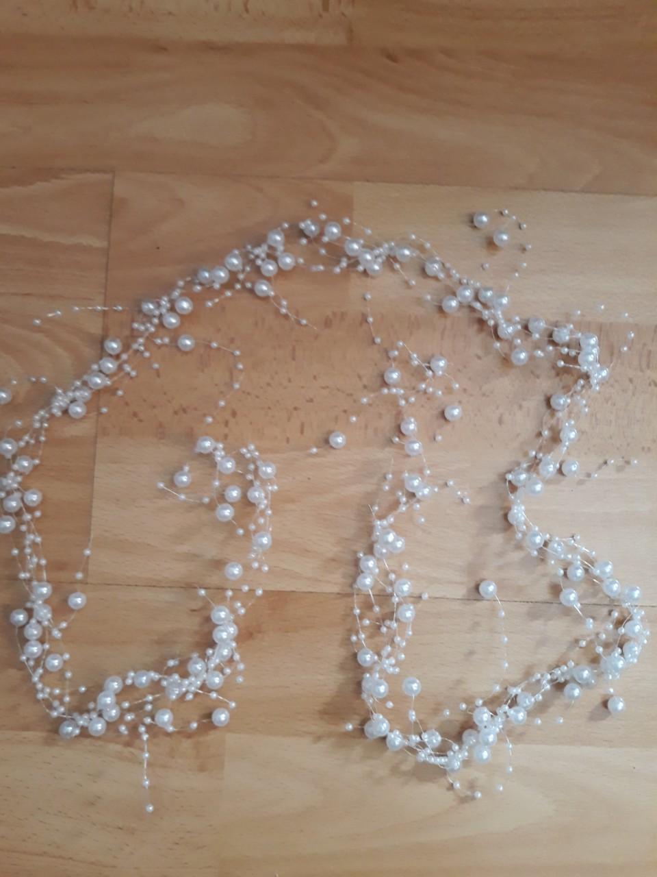 Strapaté korálky - biele a priesvitné - Obrázok č. 2