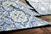 Mozaikové modré servítky - 15ks,