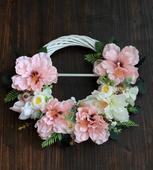 Bielo ružový svadobný venček -aj s poštovným,