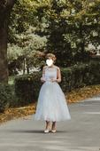 """Svadobné šaty """"Tea Length"""" Mon Cheri, 38"""
