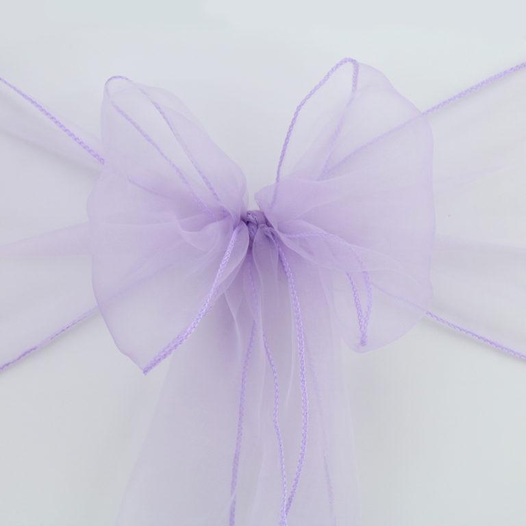 Mašle na židle světle fialová - Obrázek č. 1
