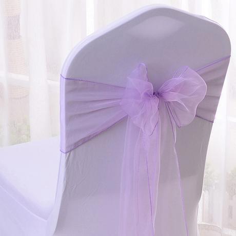 Mašle na židle světle fialová - Obrázek č. 2