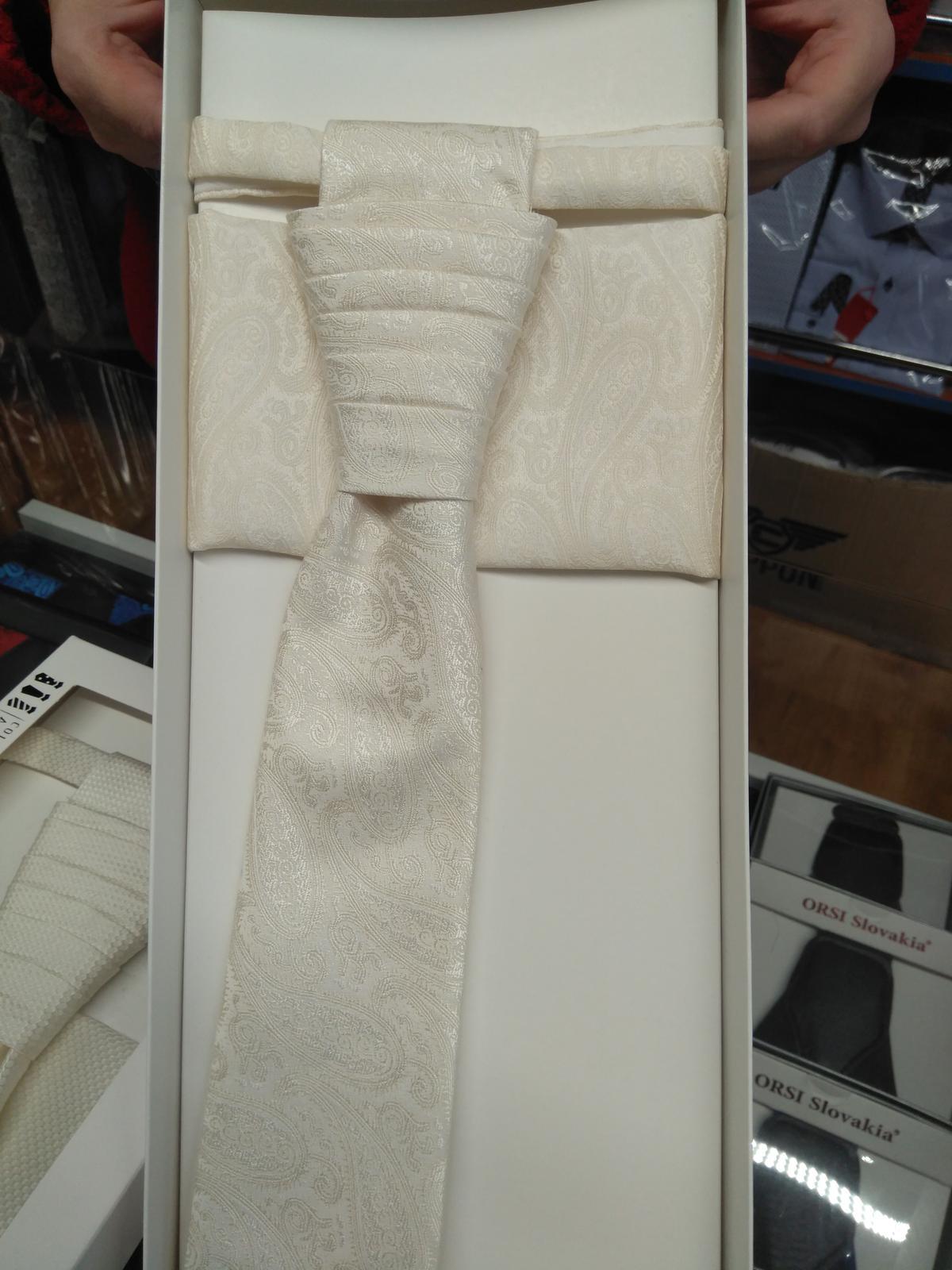 Svadobná kravata pre ženícha - Obrázok č. 1