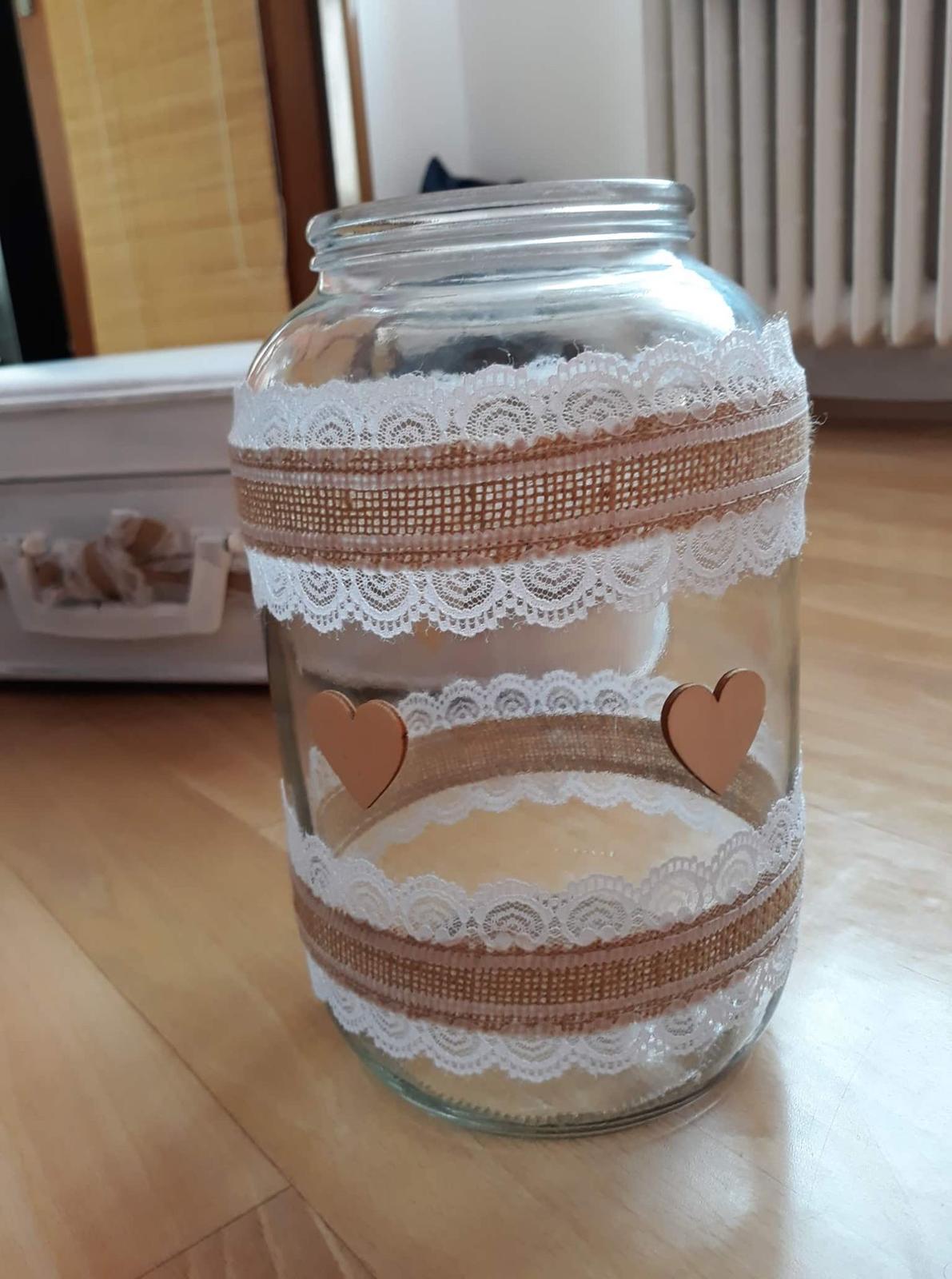 Zdobné sklenice na svíčky a kytky - Obrázek č. 3