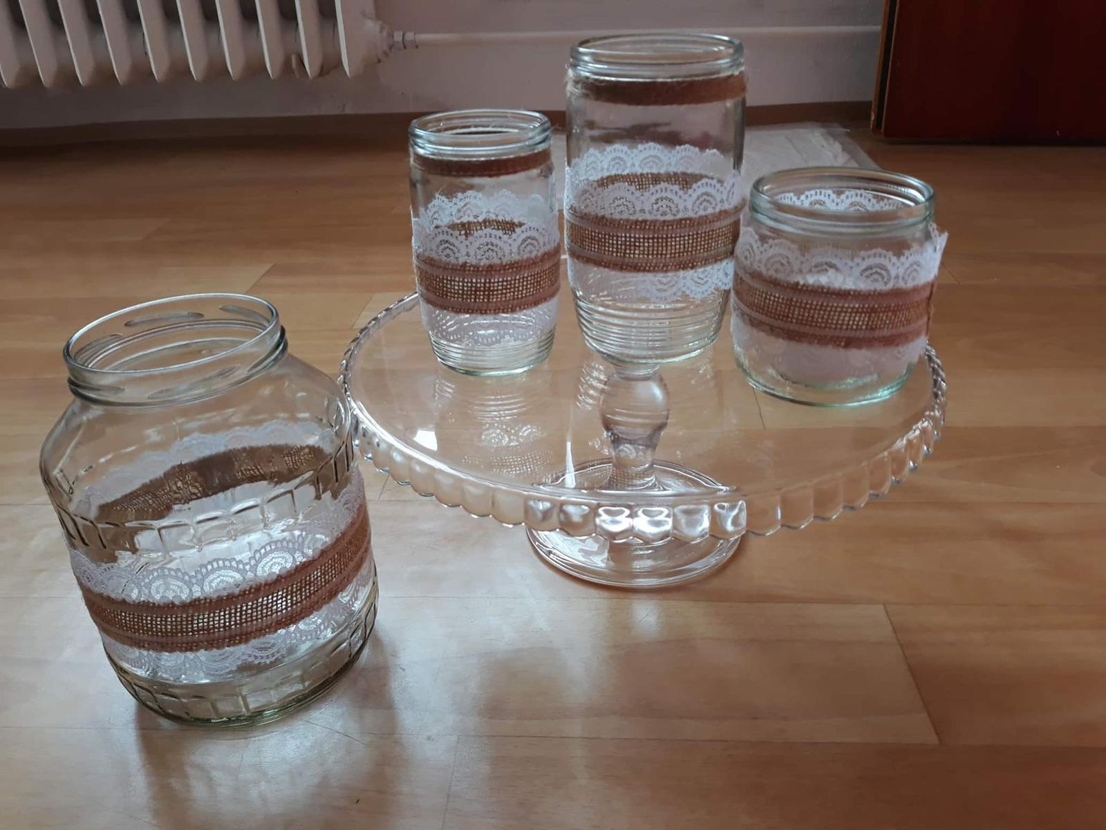 Zdobné sklenice na svíčky a kytky - Obrázek č. 1