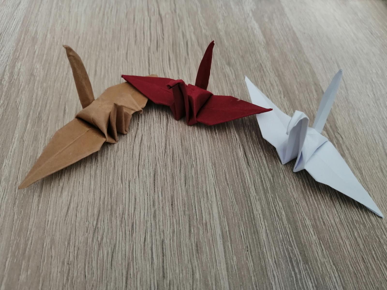 Origami vtačiky na stôl - Obrázok č. 1