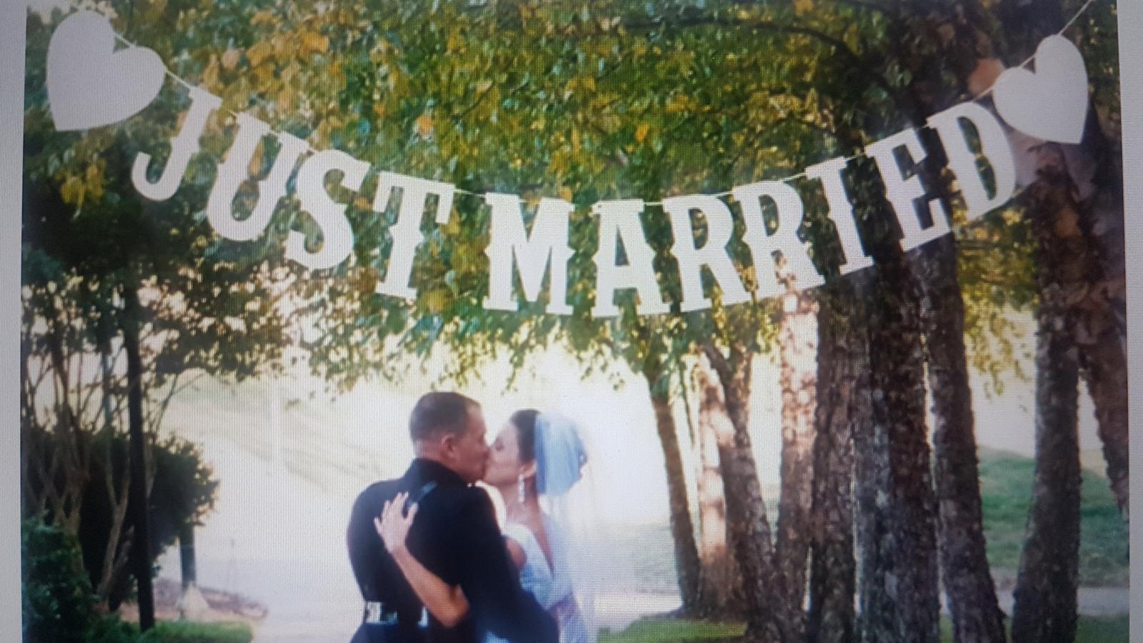 Nápis Just Married - Obrázok č. 1