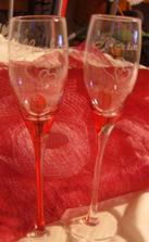 skleničky od Míši.. svatební dar :-)