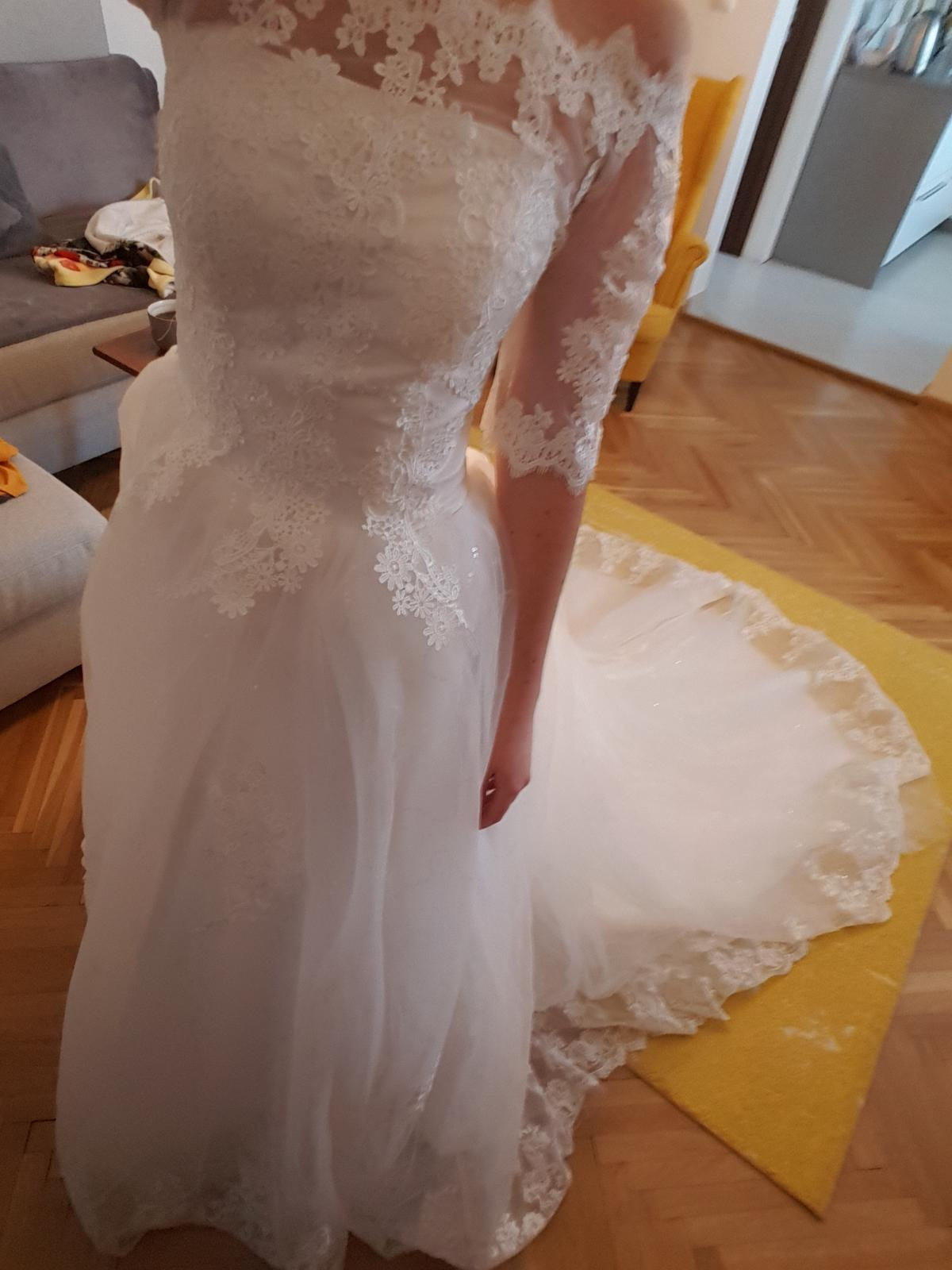 Svadobné šaty S/36 - Obrázok č. 3