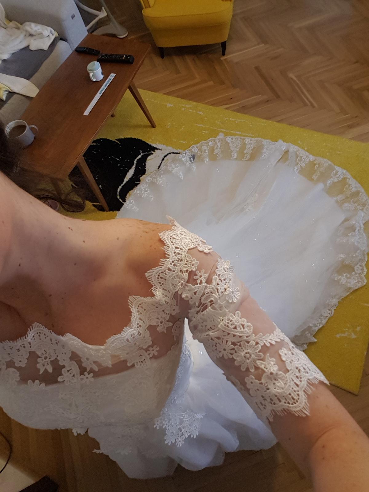 Svadobné šaty S/36 - Obrázok č. 4