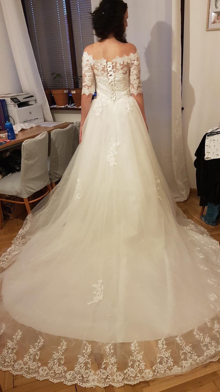 Svadobné šaty S/36 - Obrázok č. 1