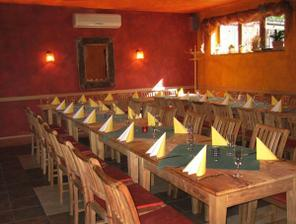 Salónek v restauraci na Štilci