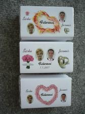Finální 3 druhy čokolád pro svatební hosty