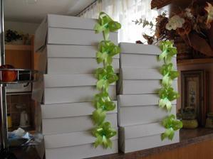 Naše krabičky na výslužky - trochu jsem si hrála ...