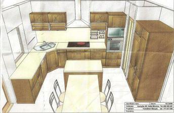 a návrh kuchyně