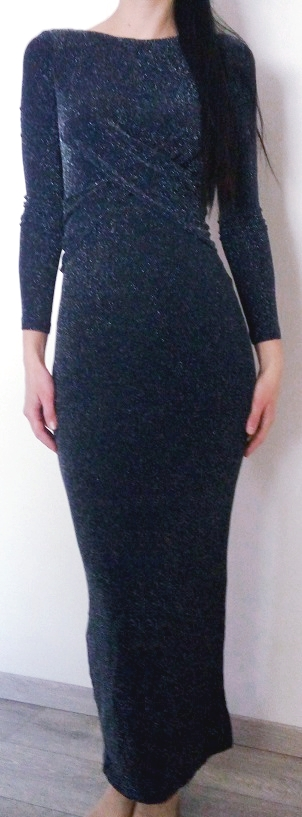 Trblietavé šaty Orsay s visačkou  - Obrázok č. 1