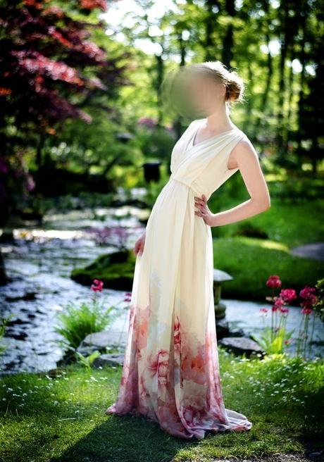 kvetinové šaty S/M (pošta v cene) - Obrázok č. 1