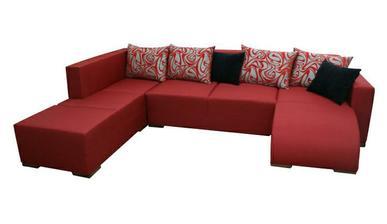 Rohová sedačka TRAFIC, levá, látka šenyl červená - můj favorit.