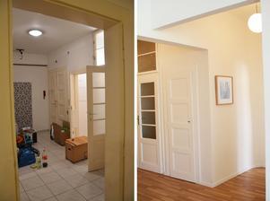 Před a po.. na místě kde je obrázek, bývala linka..