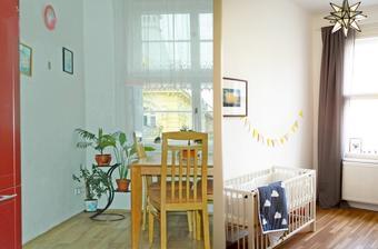 před a po - z kuchyně dětský pokoj :) zatím improvizační