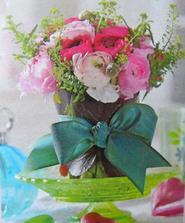 naprosto nádherná kytice pryskyřníkú, nalezená u babi v časopisu :)
