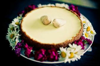 náš svatební cheesecake :) mňam