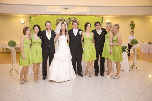 Moje predstavy - Na sestričkinej svadbe.Aj moje družičky si šiju rovnaké šaty.