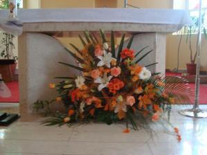 Ikebana v kostole