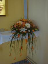 Dalšia ikebana v kostole