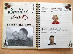 Naše vzpomínková svatební kniha....
