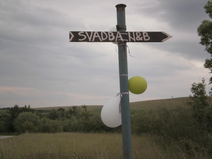 Ninka{{_AND_}}Branko - smerovnik cestou na svadbu aby hostia nezabludili