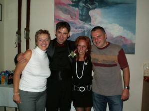 S bratrem a jeho manželkou, mojí svědkyní