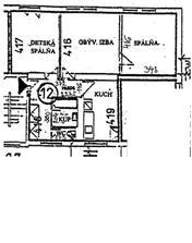 Pôvodný pôdorys bytu