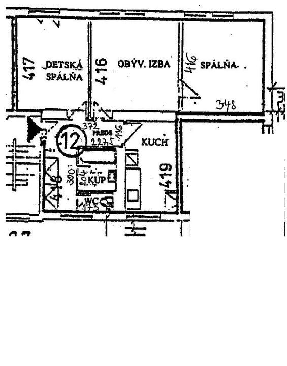Premeny - Pôvodný pôdorys bytu