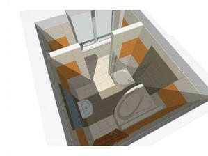 Nove byvanie - navrh kupelne - povodne tu bola kuchyna