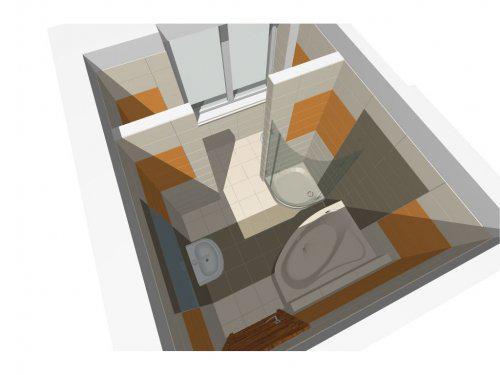 Premeny - Nove byvanie - navrh kupelne - povodne tu bola kuchyna