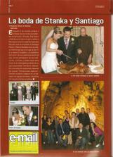 Tak toto je prekvapenie od nasich kamaratov, ktory zariadili aj napriek tomu ze svadba bola na Slovensku aby to bolo publikovane v spanielskom casopise.