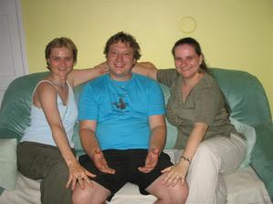 Lucky s ženichem - ta vlevo je má svědkyně!!!