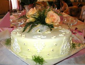 """dortík svatební """"pro oko"""""""