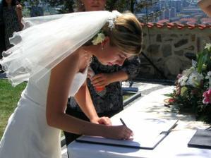 stvrdila to nevěsta...