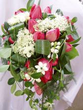 Moje svatební kytice z tulipánů